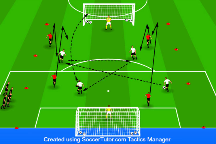 4-on-4 Touch the Line