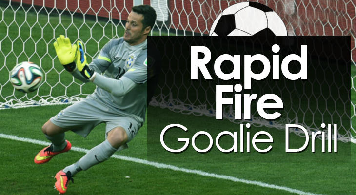 Rapid Fire Goalie Drill feature image