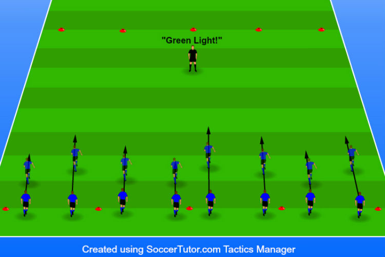 Red Light Green Light - Agility Drill 1