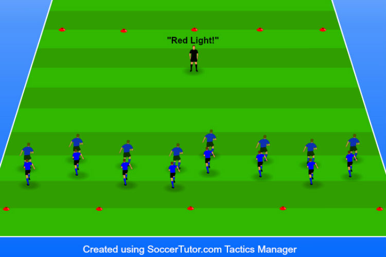 Red Light Green Light - Agility Drill 2