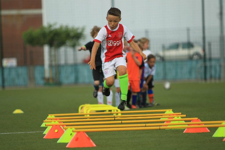 soccer kid at training