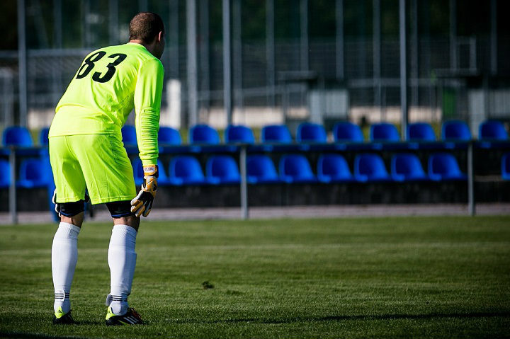 goalkeeper during a soccer game