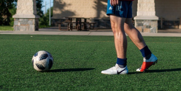 player at soccer practice