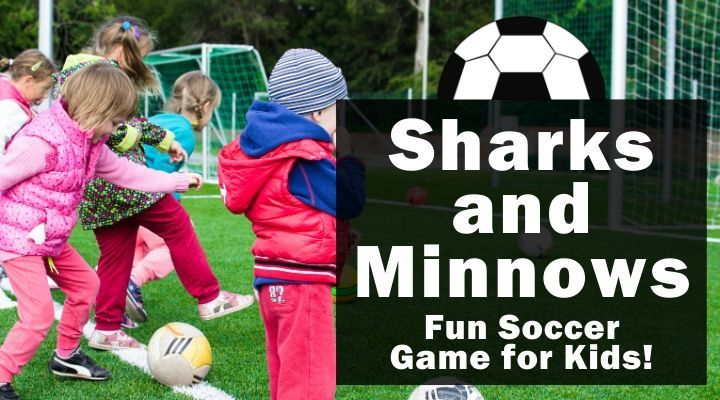 Sharks and Minnows (Fun Soccer Game for Kids)